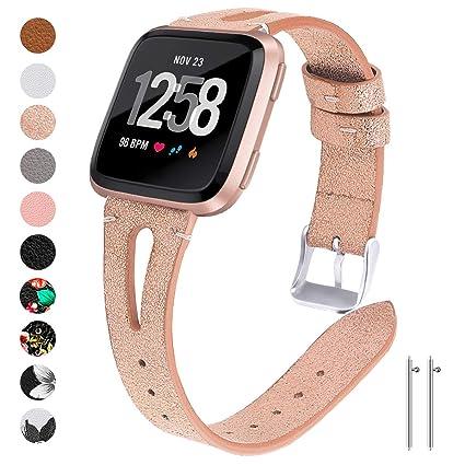 Amazon.com: Watbro - Correa de cuero compatible con Fitbit ...