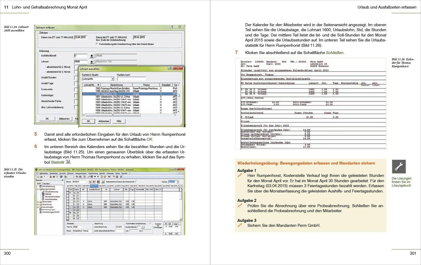Praxisnahe Lohn- und Gehaltsabrechnung mit DATEV Lohn und Gehalt ...