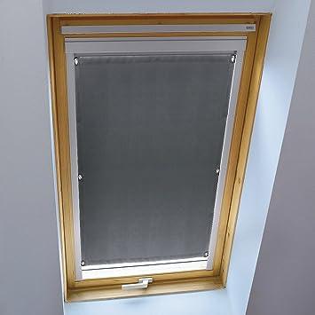 KINLO Store pour Fenêtre de Toit 38 x 75 cm Gris Velux Rideau ...