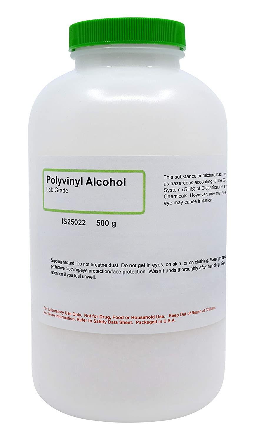 Laboratory-Grade 87% Hydrolyzed Polyvinyl Alcohol, 500g - The Curated Chemical Collection