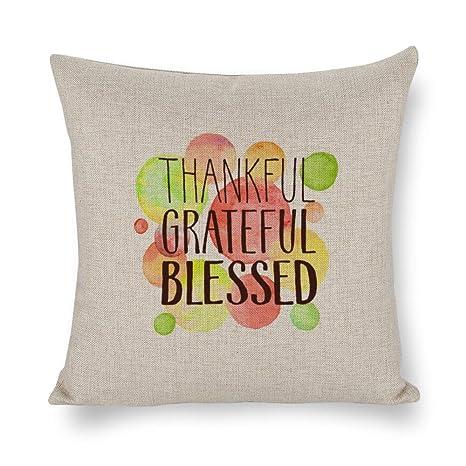 wendana Always Be Thankful Fundas de Almohada con Frases de ...