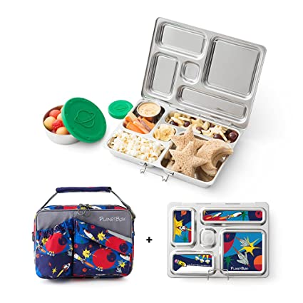 e12a0c6b9a86 Amazon.com  PlanetBox Rover Eco-Friendly Stainless Steel Bento Lunch ...