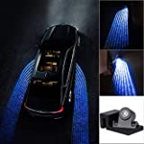 Roy Car Led Angel Wings Ghost Shadow Projector Light Car Fancy Lights for Nissan (Blue)