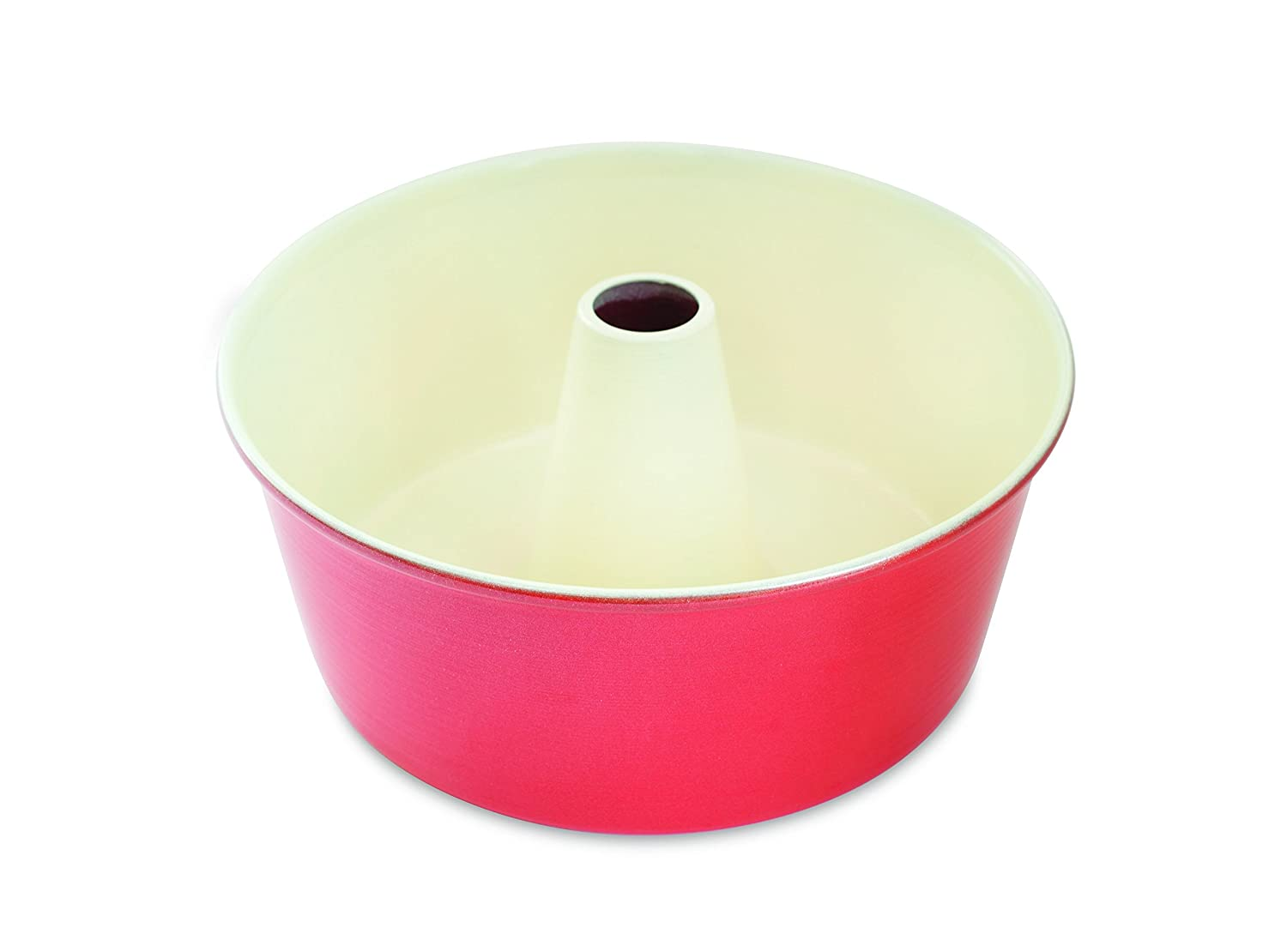 Nordic Ware Angel Food Cake Pan, 16 Cup, Red
