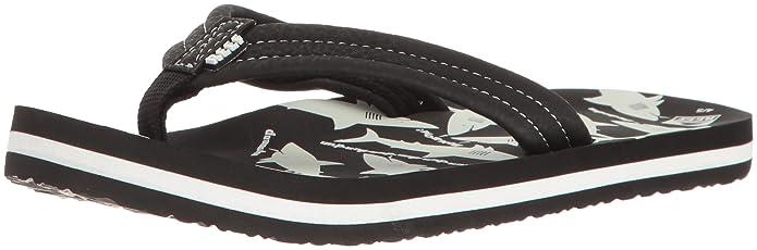 Boys AHI Glow-K Sandal, Black/White, 5/6 M US Toddler Reef
