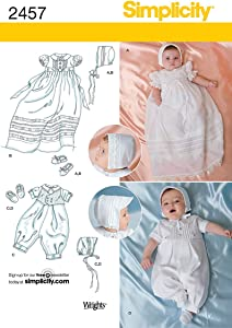 Simplicity Special Occasion Baby Clothing Sewing Pattern, Sizes XXS-M