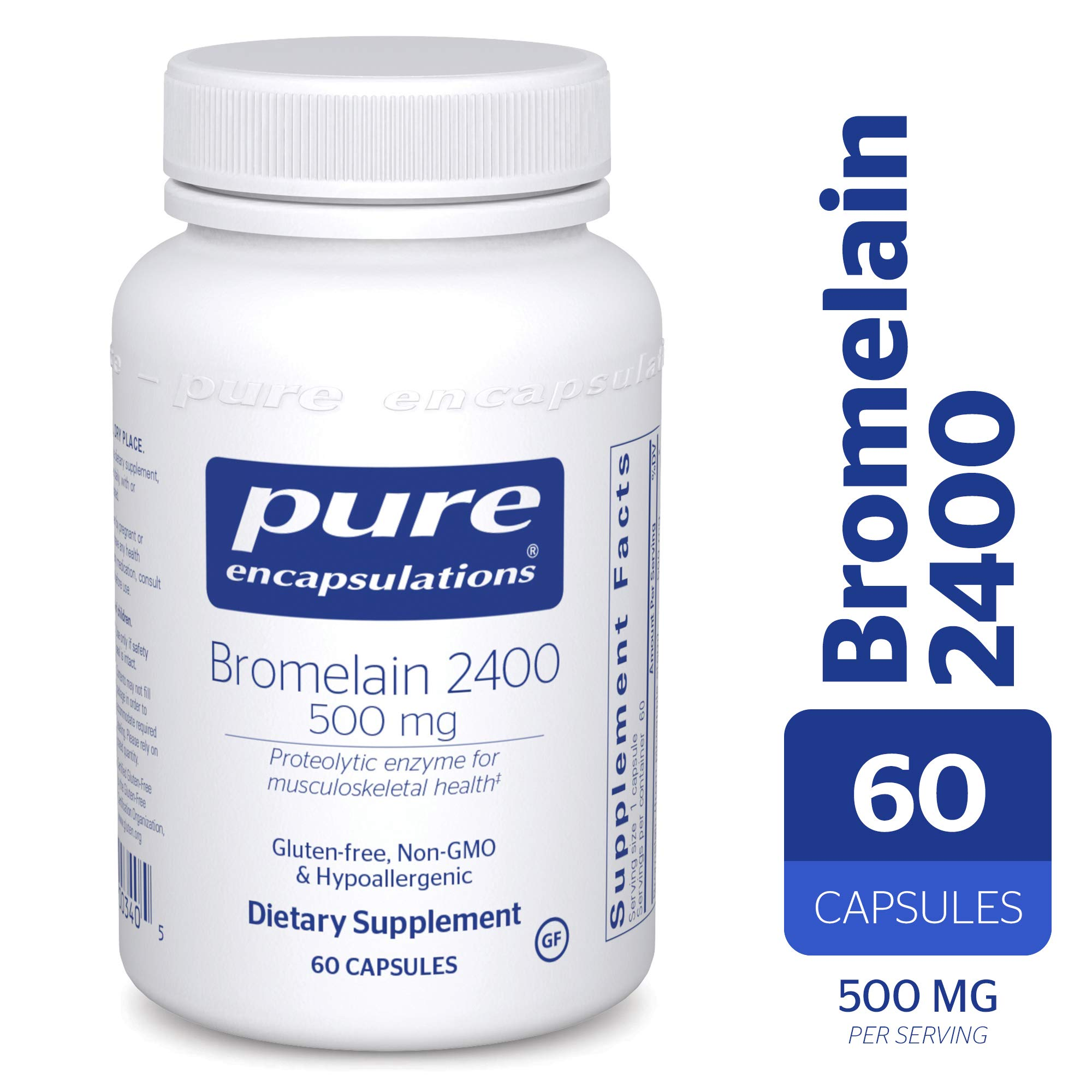 Pure Encapsulations - Bromelain 2400-500 mg - Hypoallergenic Dietary Supplement for Digestive Support* - 60 Capsules