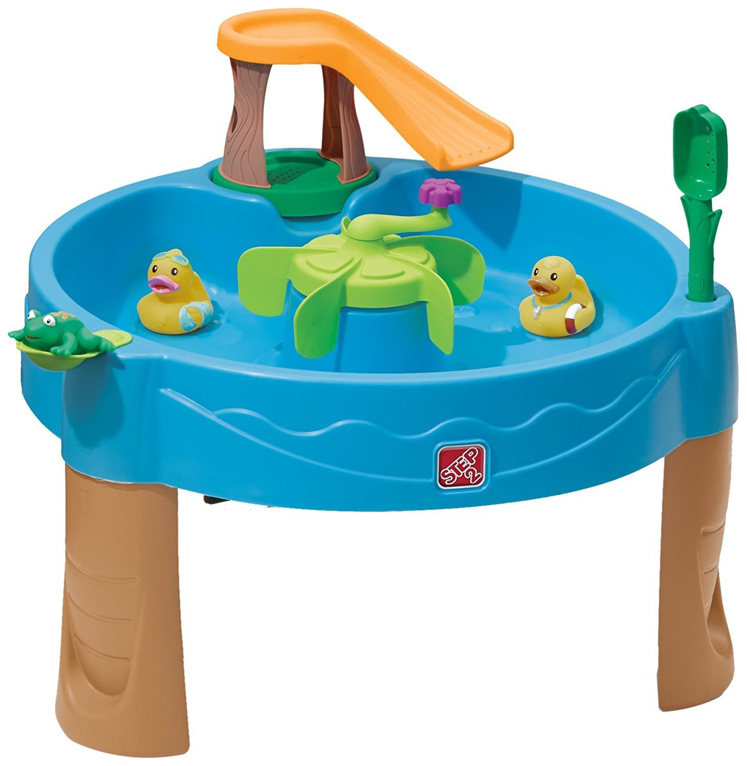 Step2 Duck Pond Water Table (Deluxe Pack - Includes Ducks, Frogs, Launcher and Spinner)