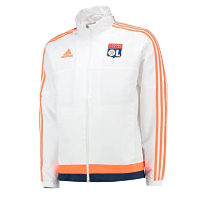 adidas OL PRES Suit - Chándal para Hombre, Color Blanco/Naranja ...