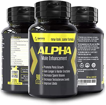 Amazon.com: Alpha Male Enhancement Penis Enlargement Pills, Natural Dick  Pills, High Potency Testosterone Booster, Increase Blood Flow, Erections,  Energy, Stamina, Vitality, Mood, Libido, Sexual Performance: Health &  Personal Care