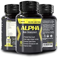 ALPHA MALE Enlargement Pills For Men - Natural Stamina Fuel For Men, Male Testosterone Booster, 90 Capsules, Workout Supplements For Men, Male Performance Enhancement Pills, Blood Flow Pills For Men