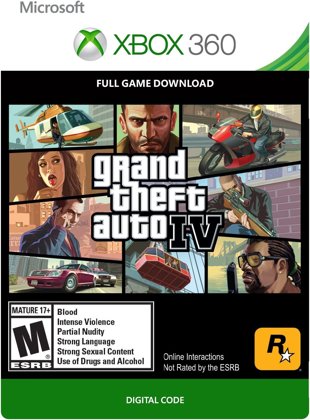 Amazon com: Grand Theft Auto IV - Xbox 360 Digital Code: Video Games