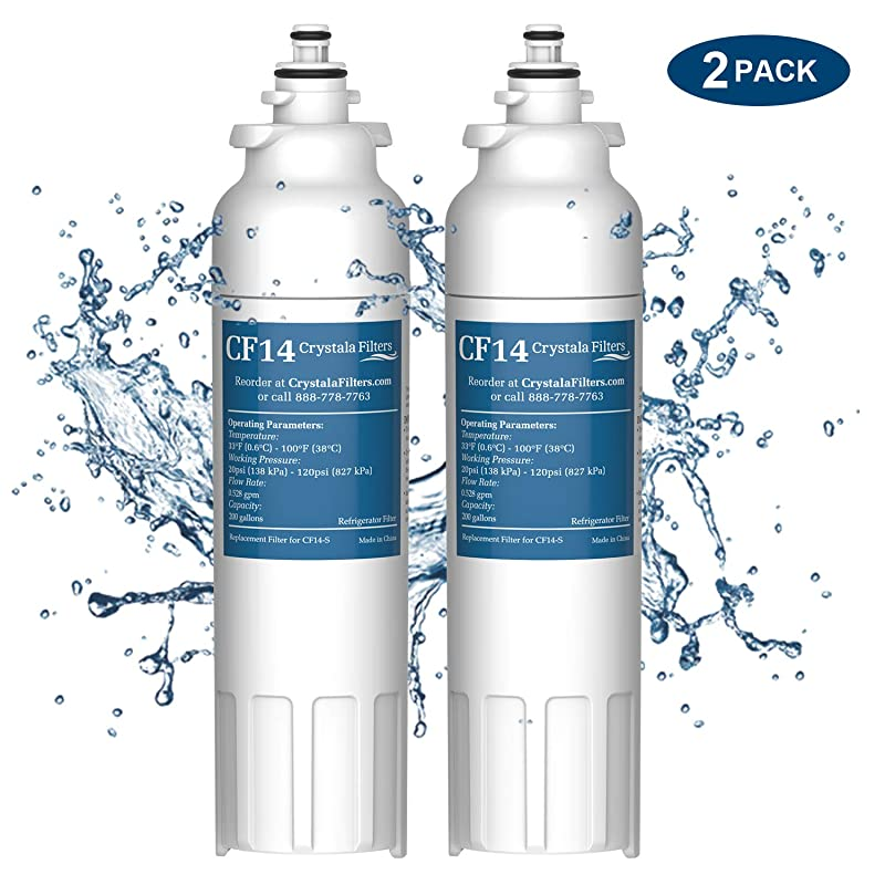 2 Pack Water Filter Compatible with Refrigerator Model LG LSXS26386S