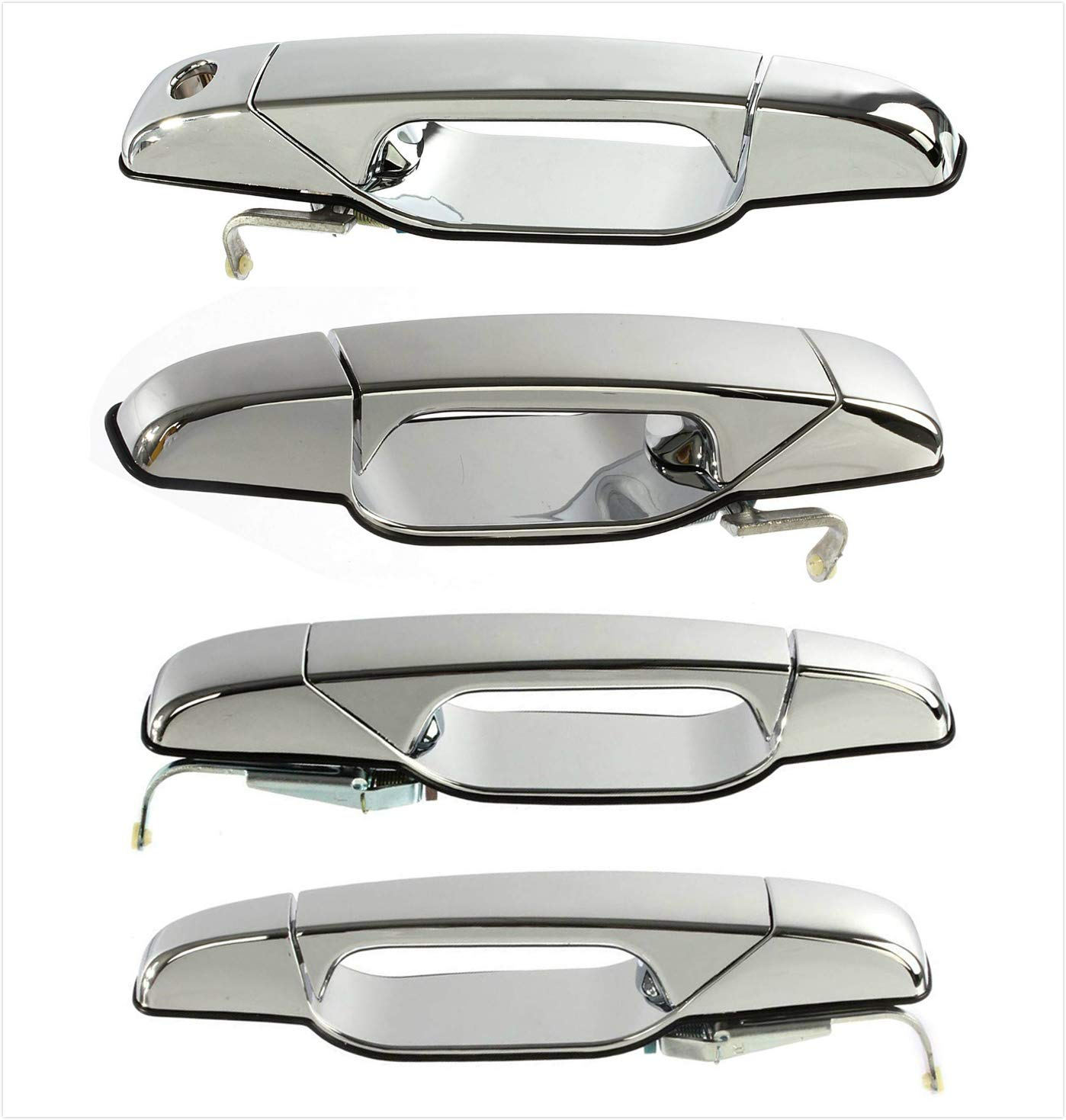 ECCPP Door Handle Exterior Outside Outer Front Passenger Right Side for 2007-2013 Cadillac Chevrolet GMC