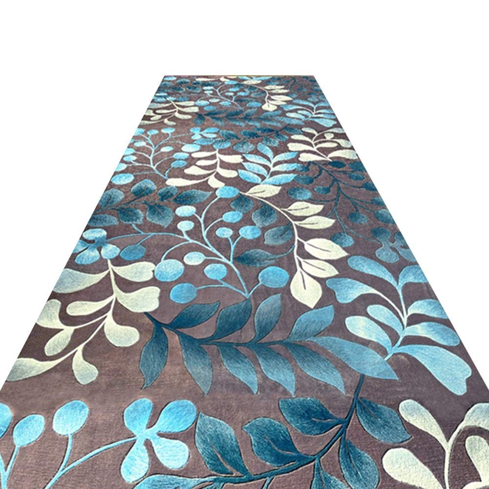 A LYQZ Motif de Fleurs de Tapis de Couloir de Transfert 3D, Balcon Chambre Magasin Complet Accueil Tapis de Sol Foyer personnalisé (Couleur   A, Taille   1.2  2m) 0.92m