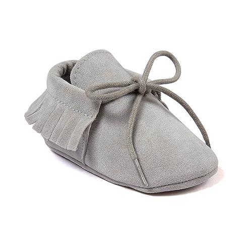 3bdb0de9f08 Auxma Moda Bebé niña Cuna borlas Vendaje Suave único Casual Zapatos niño  Zapatillas  Amazon.es  Zapatos y complementos