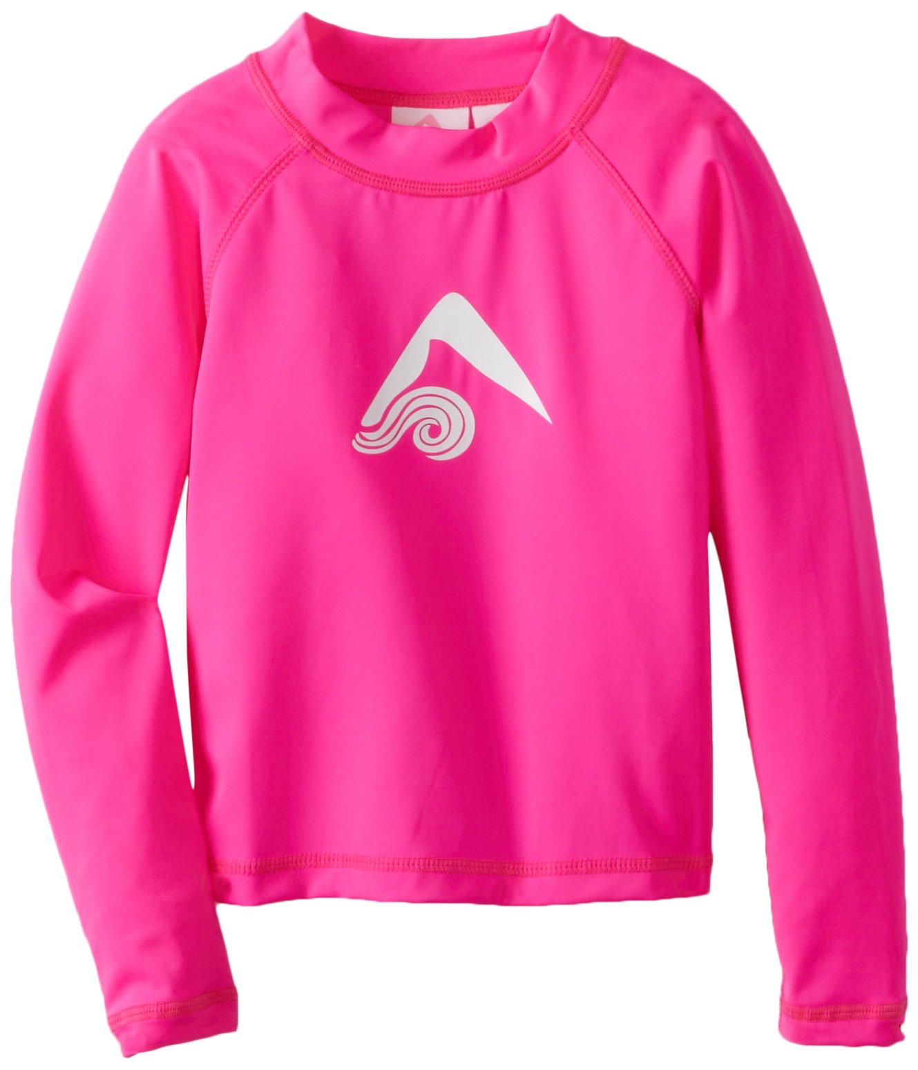 Kanu Surf Little Girls' Keri UPF 50+ Long Sleeve Rashguards, Neon Pink, 5T