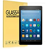 "Fire HD 10 Screen Protector(7th Generation, 2017), iThrough Tempered Glass Screen Protector Film for All-New Fire HD 10 Tablet with 10.1"" 1080P, HD Clear Bubble Free 9H Hardness Screen Protector"