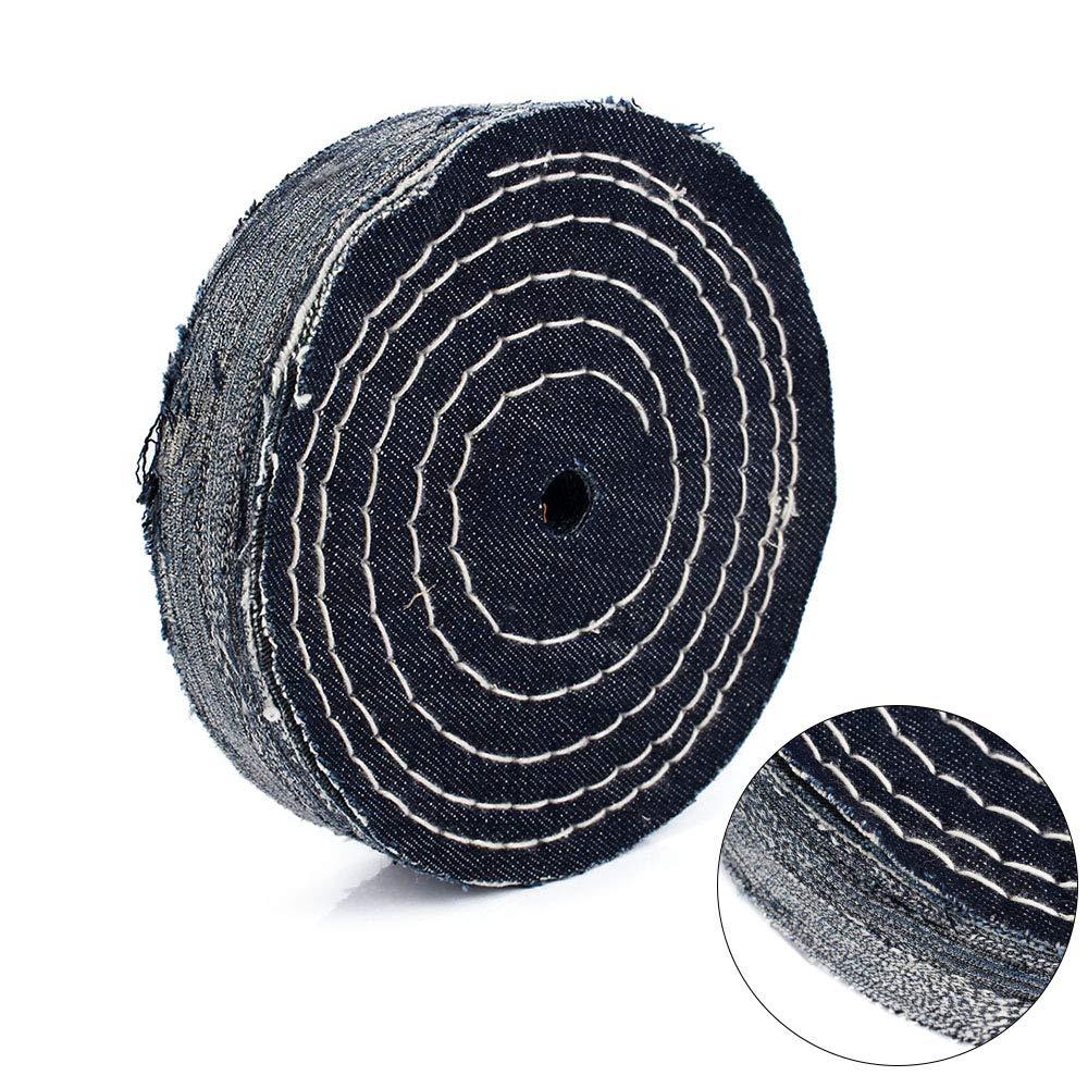 2Pcs 6 Inch Denim Buffing Wheel Cowboy Hard Cloth Polishing Pads 1//2Bore for Stainless Steel Surface Polishing