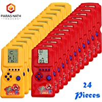 PNT Hand Battery Operated Video Games for Return Gift Purpose. (24 Units with Happy Birthday Ballons)
