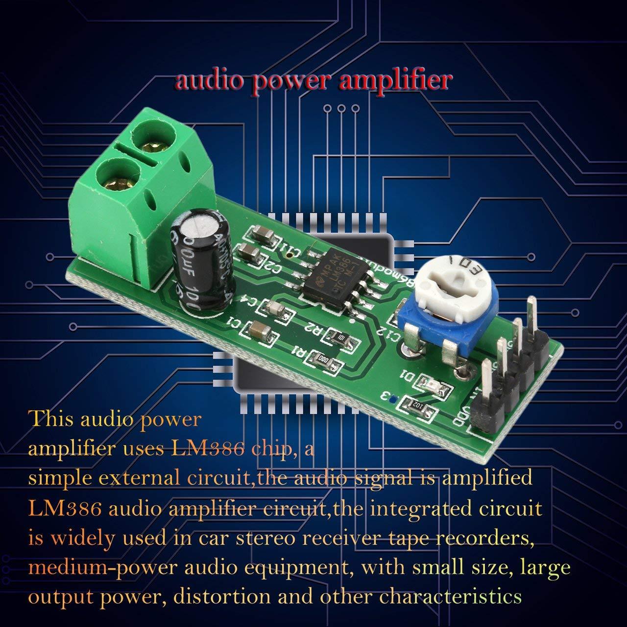 Jasnyfall Lm386 Super Mini Dc 200x Leistungsaudioverstrker Audio Door Phone Circuit Using Platinenmodul Monokanal Grn Baumarkt