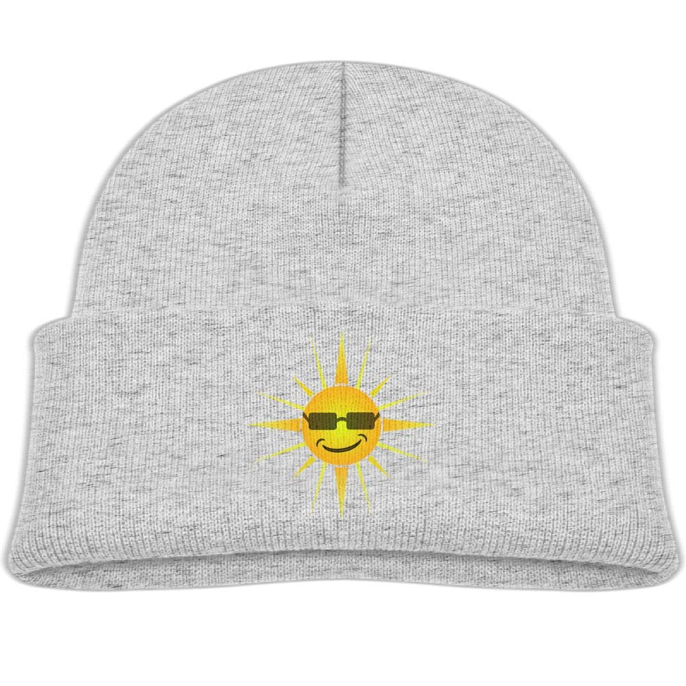 Cool Sun with Glasses Wool Beanies Hat Trendy Boys Winter