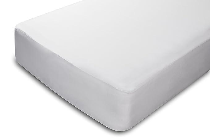 Pikolin Home - Protector de colchón, 100% bambú, impermeable, color blanco, 150 x 190/200 cm, cama 150 (Todas las medidas): Amazon.es: Hogar