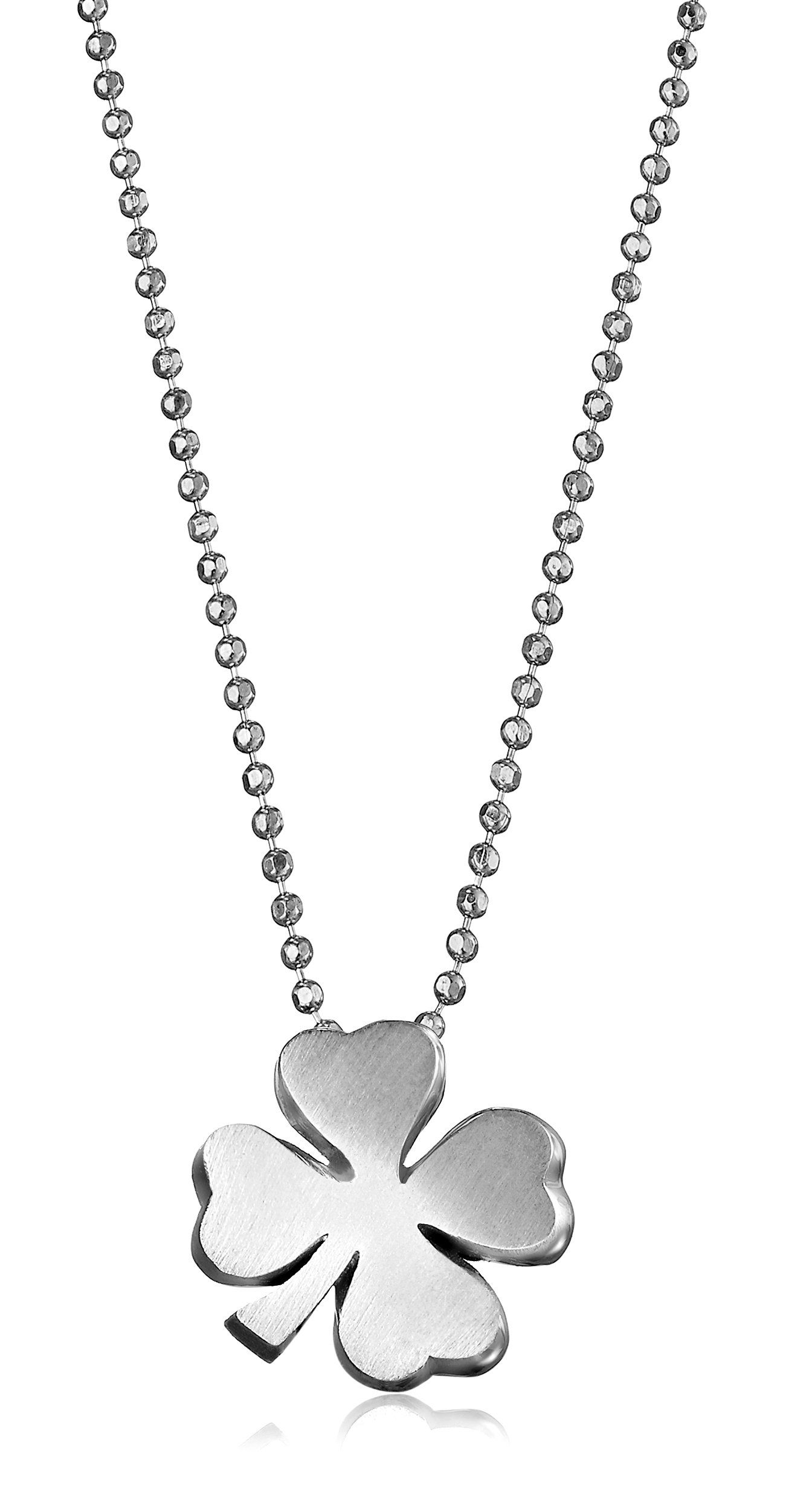 Alex Woo ''Little Luck'' Sterling Silver Clover Pendant Necklace, 16''