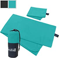 alamoha 2pack Microfiber Travel Sports Towel. Absorbent-Compact-Lightweight and Fast Drying- Swimming Towel (Available...