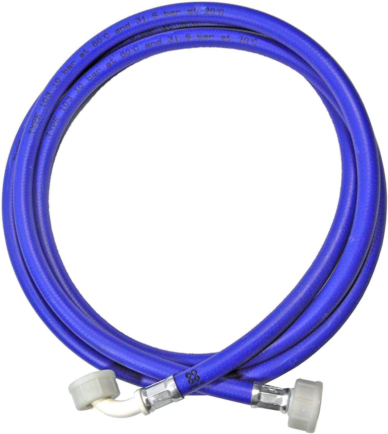 ABC Products Universal Washing Machine Cold Water Fill Inlet Pipe Feed Hose Long (3.5m/11.5 Feet)