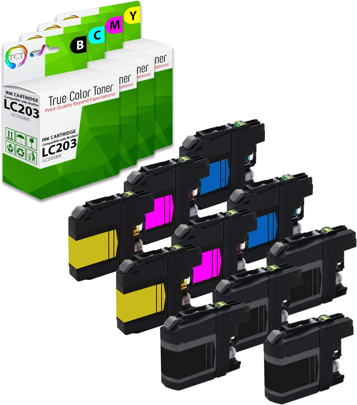 TCT Compatible Ink Cartridge Replacement for Brother LC203 LC203C LC203M LC203Y Works with Brother MFC-J460DW J480DW J485DW J880DW J4620DW J4420DW Printers 3 Pack Cyan, Magenta, Yellow