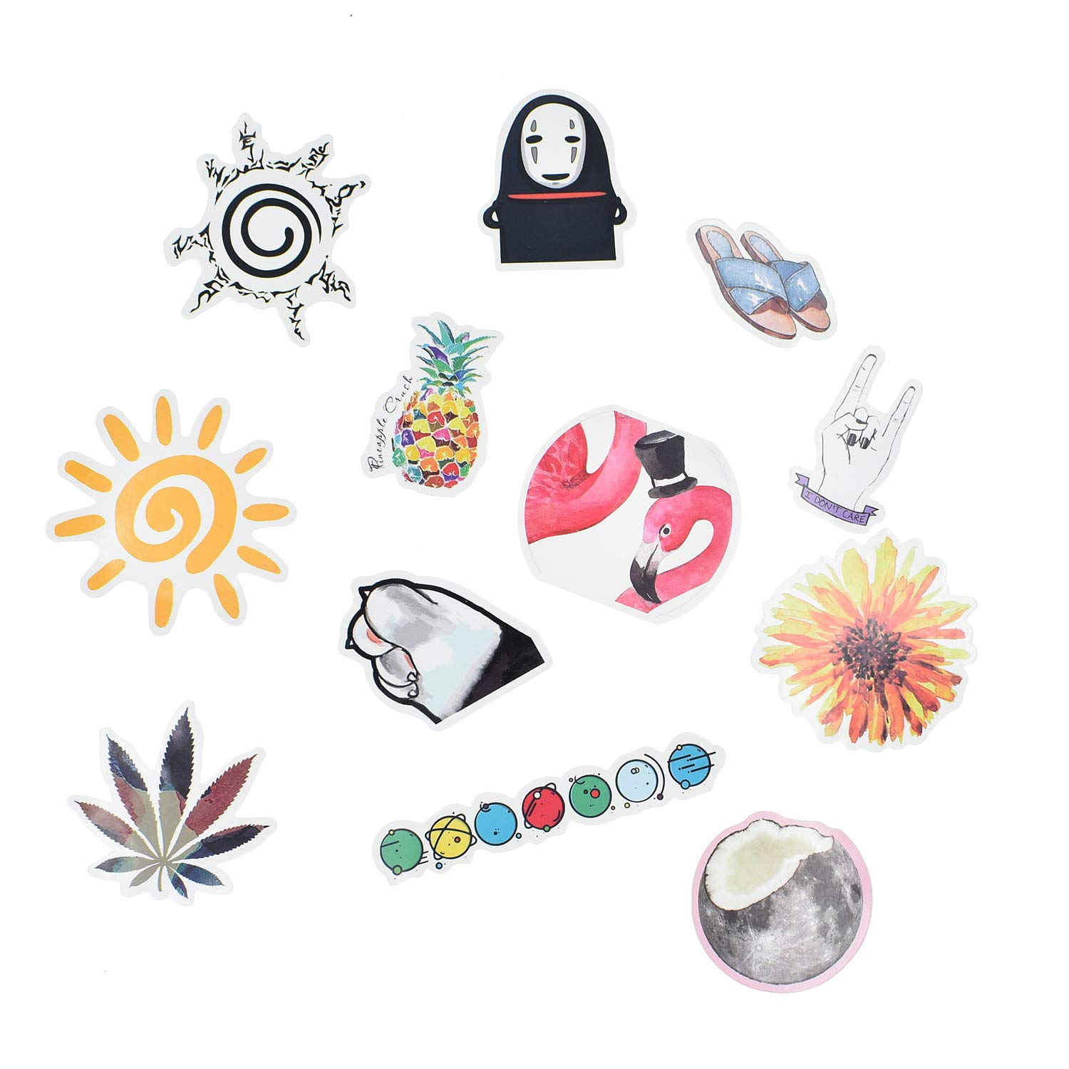 50 pcs Pack Girl Cute Cartoon Laptop Stickers Skateboard Motorcycle Phone Bicycle Luggage Guitar Bike Sticker Decal