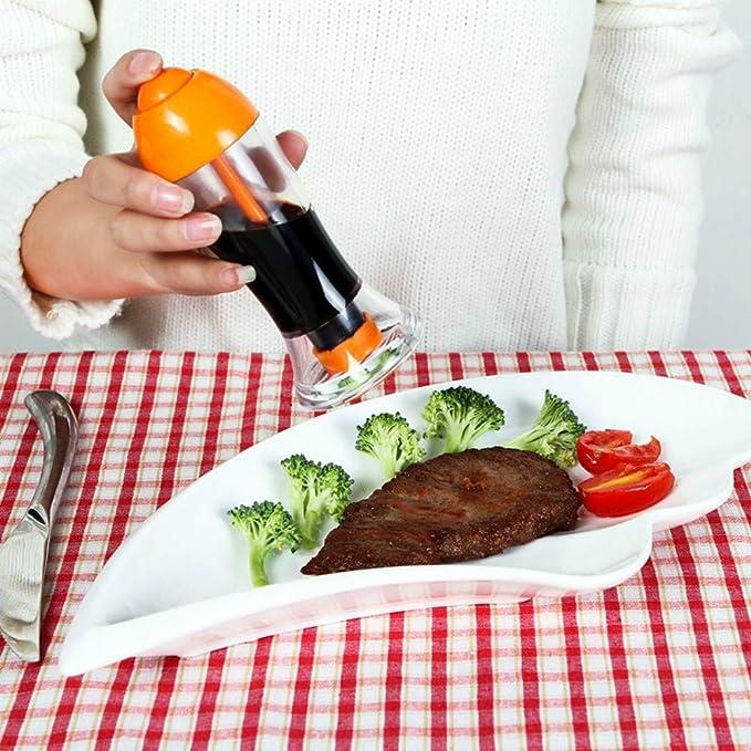 ... gatillo vinagre aerosol botella cocina a prueba de fugas riego puede salsa de soja fresco sazonado Pot para pasta ensaladas sartenes: Amazon.es: ...