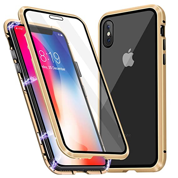 iphone xs magnetic case gold