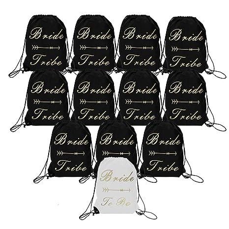 Amazon.com: Paquete de 12 bolsas de cordón con diseño de ...