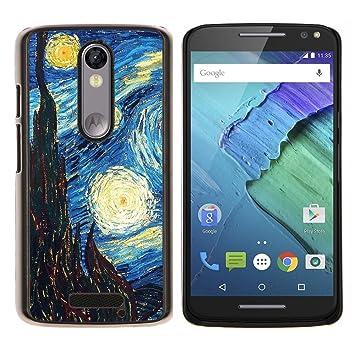 Snap-on Series Teléfono Carcasa Funda Case Caso para MOTOROLA Droid Turbo 2 / Moto X Force , (Arte Gogh Noche estrellada Pintura) : Amazon.es: Electrónica