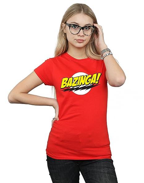 Amazon.com  The Big Bang Theory Women s Sheldon Bazinga T-Shirt  Clothing 0b8ca3f1f