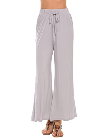 04862f05255 Zeagoo Womens Plus Size Premium Modal Rayon Softest Ever Palazzo Solid  Stretchy Knit Pants