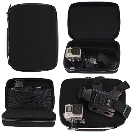 Navitech Schwarz Robuste Hard Case kompatibel mit der GoXtreme Black Hawk 4K Action Camera