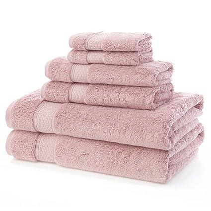 Toallas de algodón egipcio, 100% lujosas. Juego de 6 piezas de 600 gramos