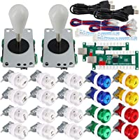SJ@JX Arcade Game 2 Player Controller DIY Kit Buttons with Logo Coin X Y Start Select 8 Way Joystick USB Encoder for PC…