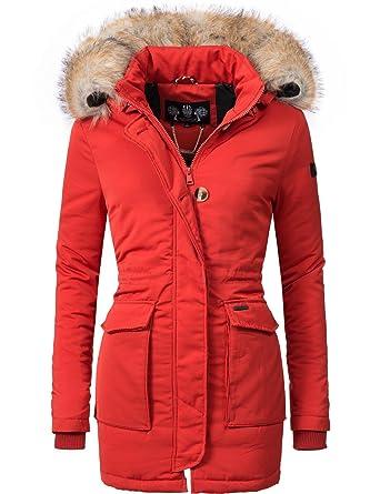 2cd7d42275ad Navahoo Damen Winter-Jacke Winter-Mantel Schneeengel (vegan hergestellt) 11  Farben XS-XXL  Amazon.de  Bekleidung