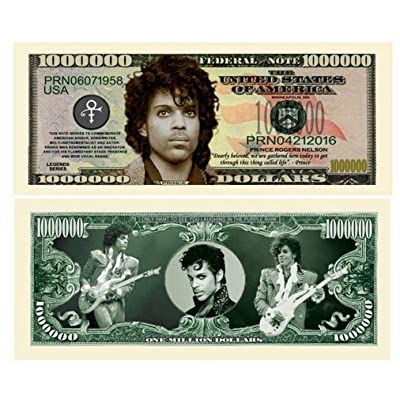 "Prince Million Dollar Bill with Bonus ""Thanks a Million"" Gift Card Set and Clear Protector: Everything Else"