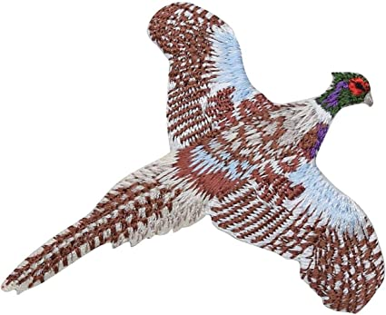 Iron on Rink-Necked Pheasant Applique Patch