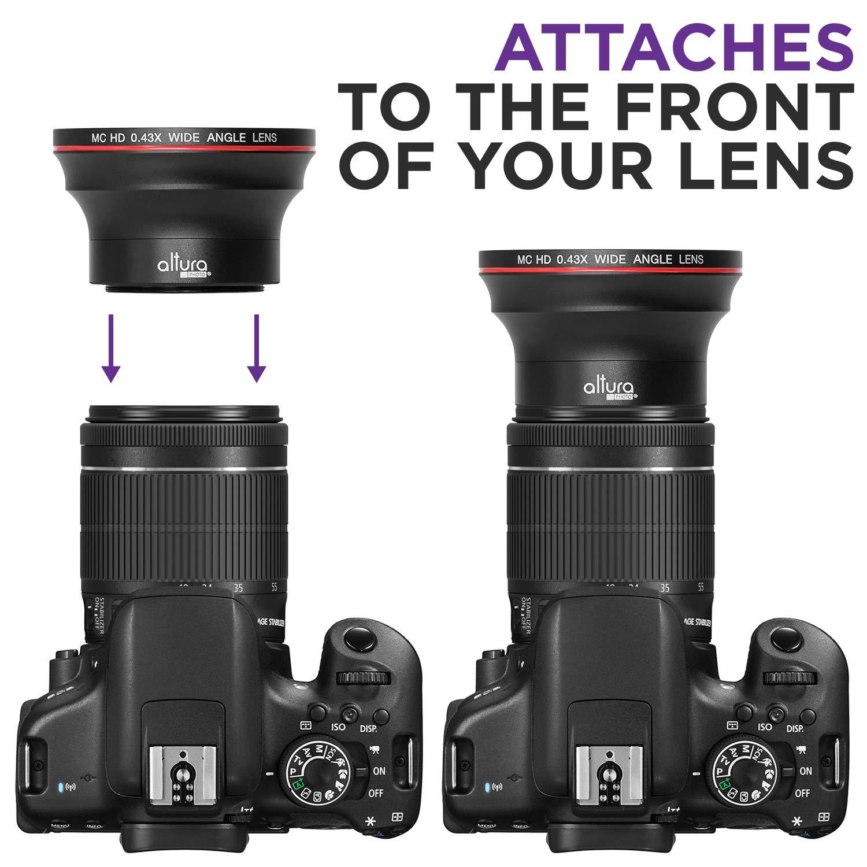 55mm 043x Altura Photo Professional Hd Wide Angle Lens Wmacro