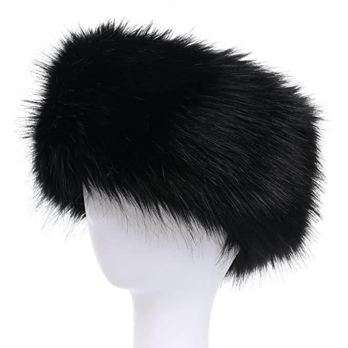 La Carrie Faux Fur Headband with Stretch Women s Winter Earwarmer Earmuff  (black) 86cf33d25f0