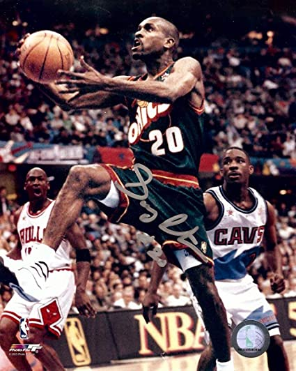 wholesale dealer 06584 0805f Gary Payton Signed Autographed 8X10 Photo Sonics All-Star ...
