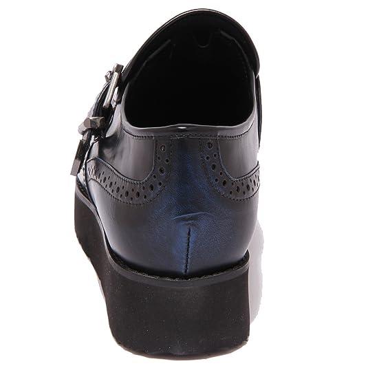 8677P scarpa all'inglese MASSIMO SANTINI blu scarpa donna shoe woman [41] VcAkp0C