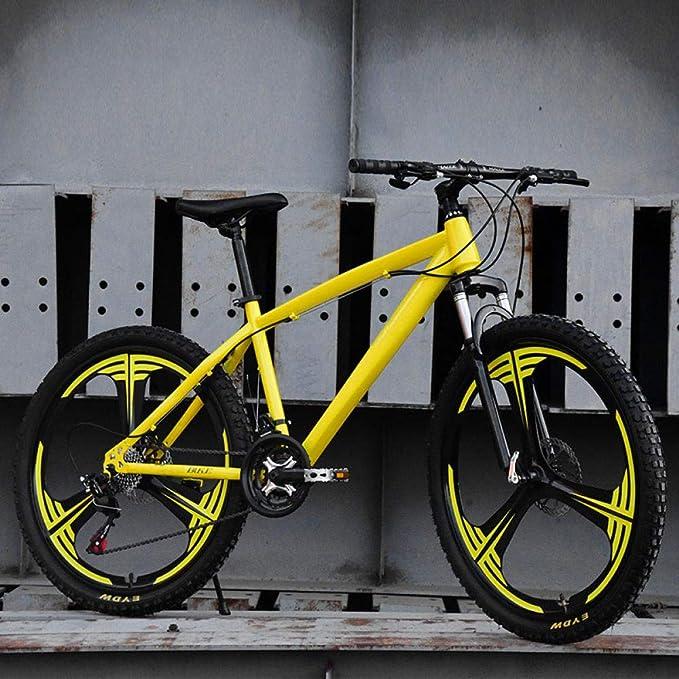KNFBOK bicicleta mujer paseo Adulto 21-velocidad bicicleta de campo a través de 26 pulgadas de una rueda de bicicleta de montaña coche de estudiante para hombres y mujeres rueda de tres cuchillas