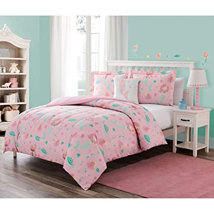 Amazon.com: Little Mermaid Kids Comforter Set Full Size ...
